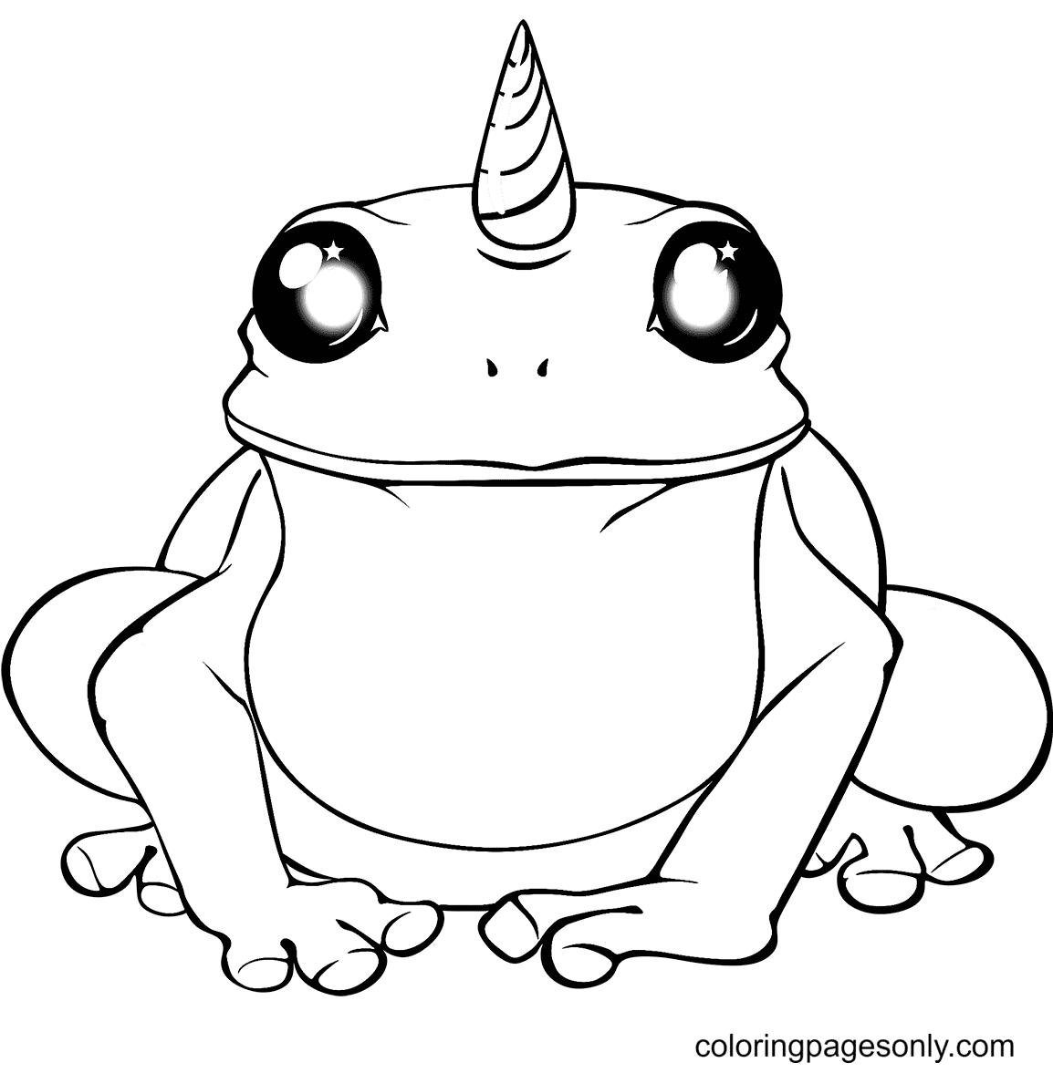 Unicorn Frog Coloring Page