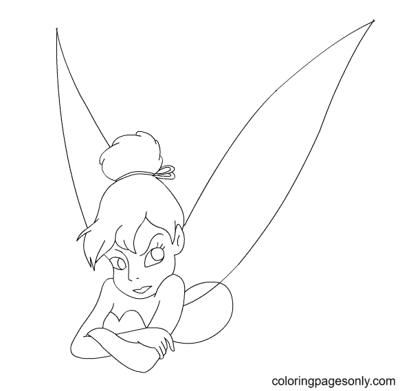 Upset Tinkerbell Coloring Page
