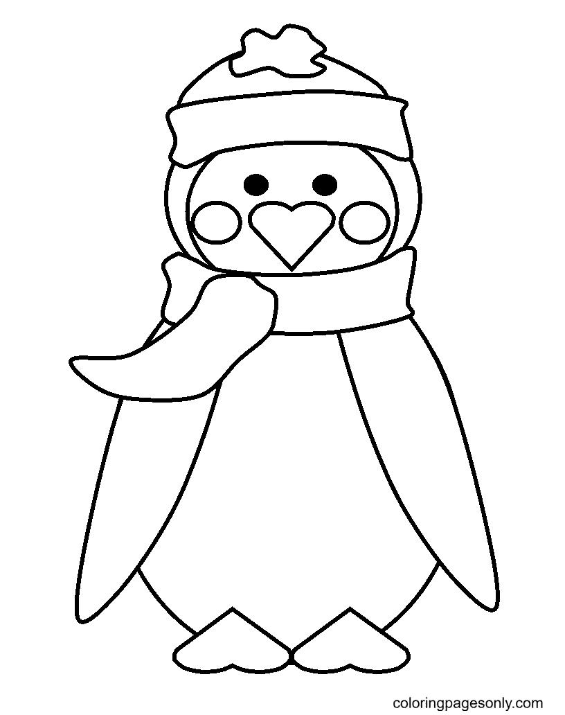 Warm Penguins Coloring Page