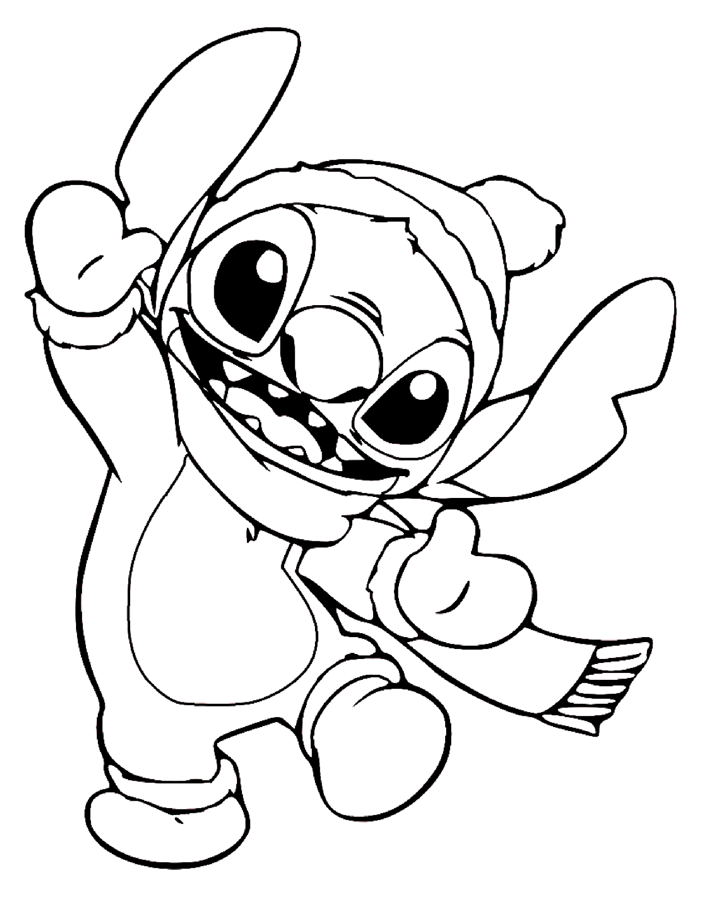 Warm Stitch Coloring Page