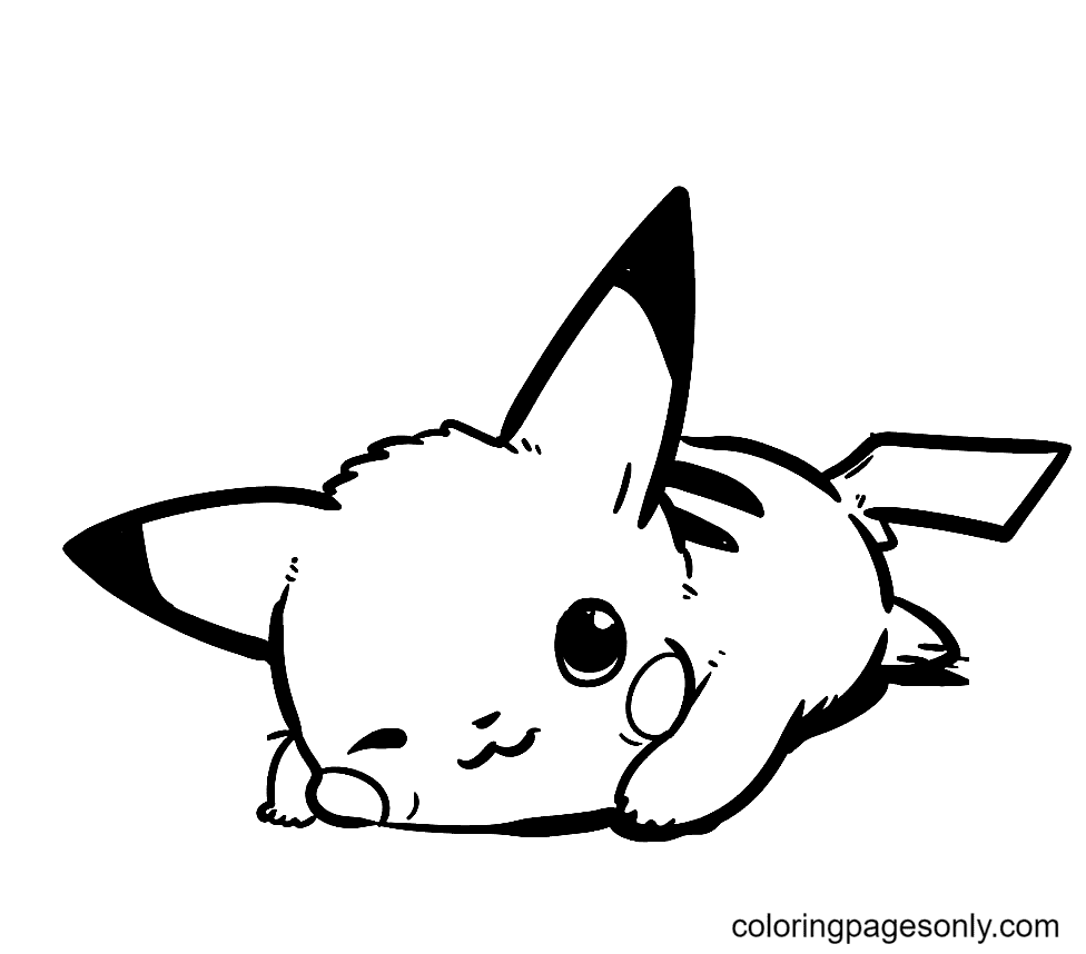 Winks Pikachu Coloring Page