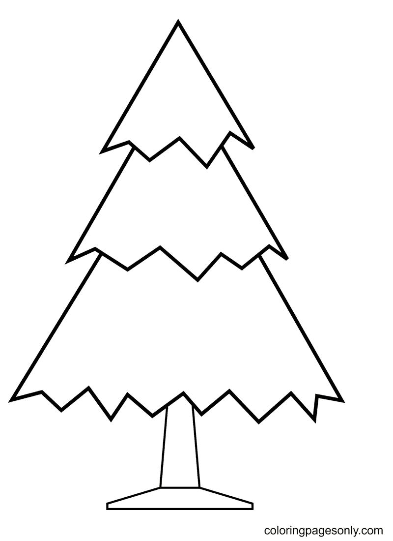 Xmas Tree Coloring Page